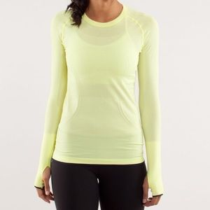 Lululemon Swiftly Tech Long Sleeve Top Yellow